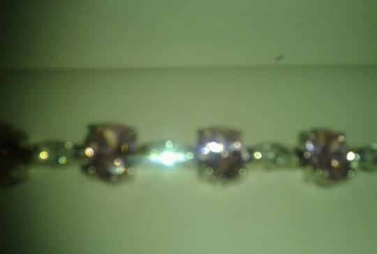 Other Sterling Silver Bracelet with Pink & White CZ 24-5/8 total carat weight 925 SS Image 3