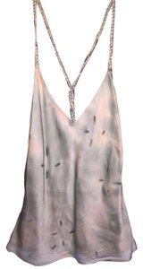 JLo Tie Dye Silk Braided Glitter Top Sage