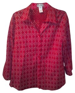 Draper's and Damon's Button Down Shirt Red/Gold