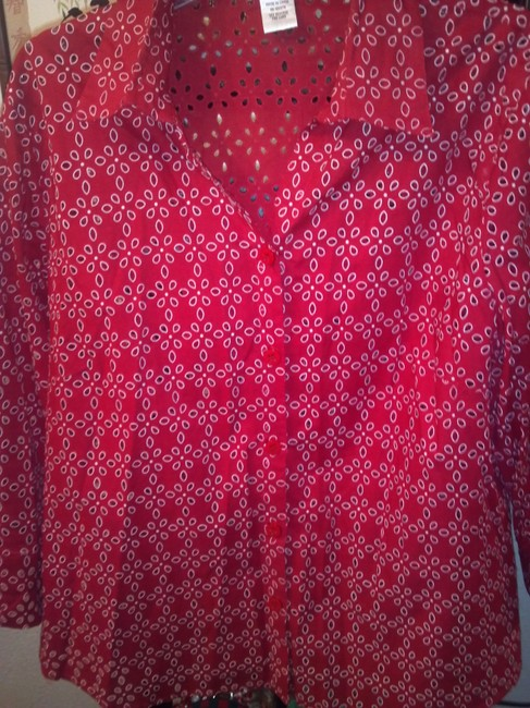 Draper's and Damon's Button Down Shirt Red Image 1
