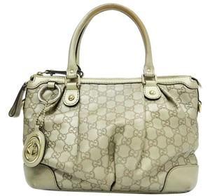 Gucci Sukey Leather Satchel Tote