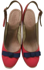 Kate Spade Red and navy Wedges