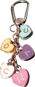 Coach coach heart key chain
