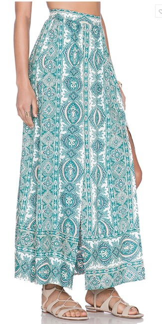 Paisley Print Maxi Dress by The Allflower Creative Maxiskirt Croptop Bellsleeve Bohochic Image 5