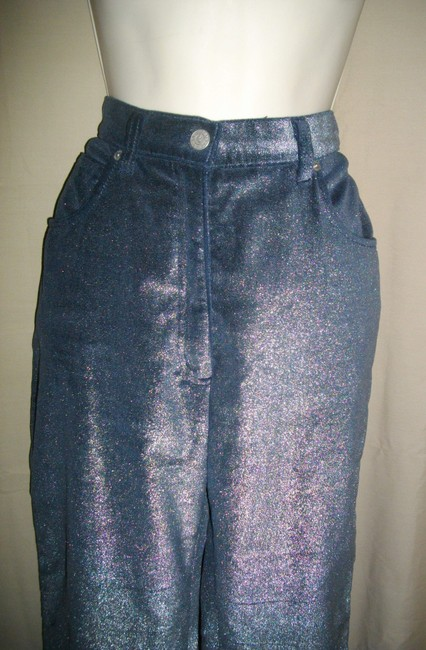 Armani Jeans Iridescent Casual Coated Trouser/Wide Leg Jeans-Coated