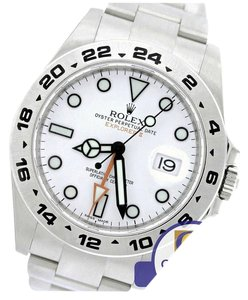 Rolex MINT Men's Rolex Explorer II 42mm 216570 Polar White Stainless GMT Date Watch