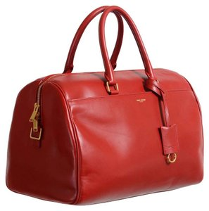 Saint Laurent Satchel in Bright Red