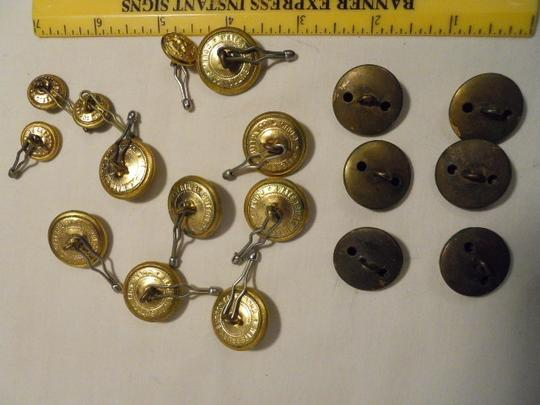 Waterbury button co. Vintage navy button lot