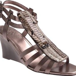Vince Camuto Pewter Wedges