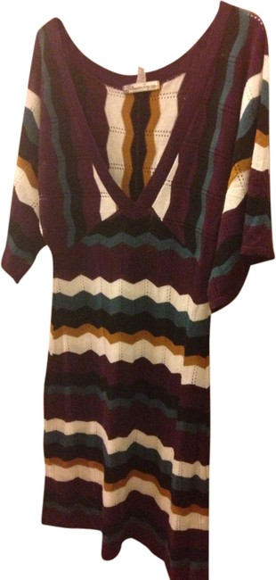 Preload https://item5.tradesy.com/images/american-rag-burgundy-white-gold-real-and-black-stripes-knee-length-short-casual-dress-size-6-s-1560769-0-0.jpg?width=400&height=650