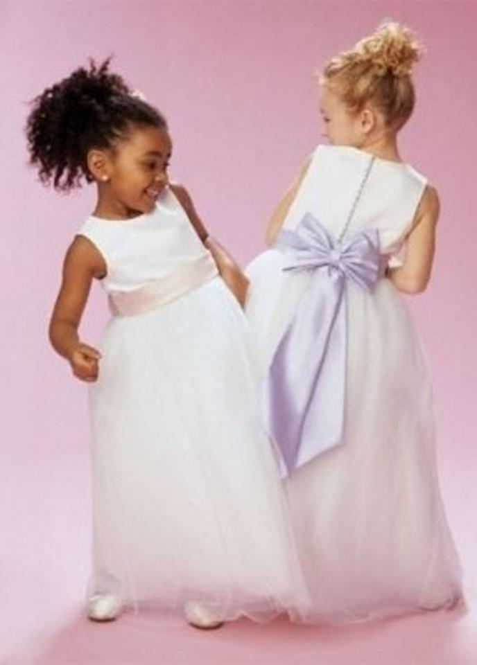 9dfe93cda9a Short Ballgown Tank Communion Dress – David s Bridal. David s Bridal Ivory Flower  Girl Dress S1038 …