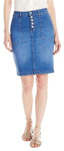 Kensie Skirt Blue Denim