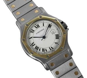 Cartier Cartier Santos Octagon Ladies 31mm Watch - Stainless Steel & 18K Gold
