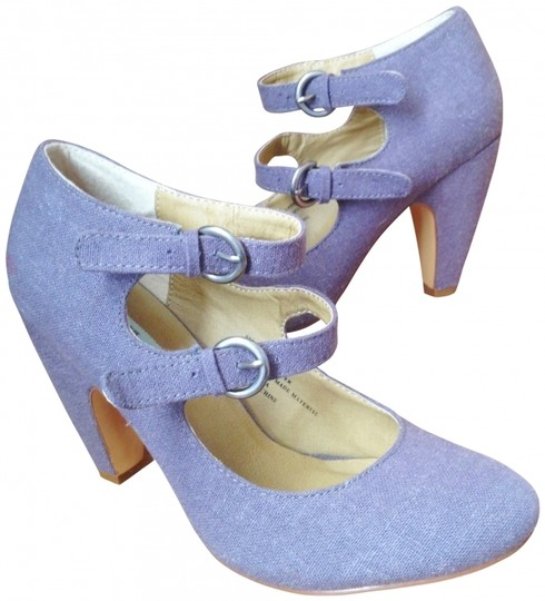 Kimchi Blue Urban Outfitters Double Strap Mary Janes Urban Outfitter Mary Janes 40s Inspired Size 8 gray Pumps