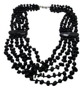 Other SO Many Gemstones Black Agate Necklace 22in w Free Shipping