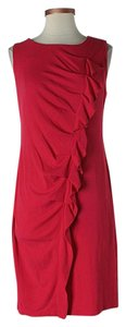 Lafayette 148 New York Ruffle Shift Sheath Sleeveless Dress
