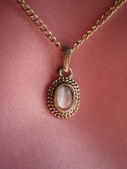 Other Vintage White Cats Eye Necklace