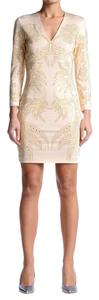 Just Cavalli short dress Beige / Gold on Tradesy