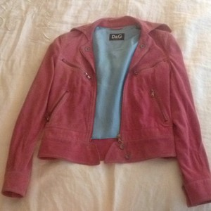 Dolce&Gabbana Pink Leather Jacket