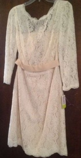 Watters & Watters Bridal Ivory/Almond/Oatmeal Lace 2251e Feminine Wedding Dress Size 10 (M) Image 2