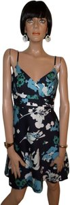 Ann Taylor short dress Blue Floral on Tradesy