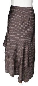 Lauren Ralph Lauren Polka Dot Bias Cut Asymmetrical Skirt brown