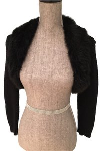 Michael by Michael Kors Shrug Faux Fur Casual Evening Night Out Knit Cardigan Small Shrugs Faux Fur Shrugs Night Out Night Out Sweater