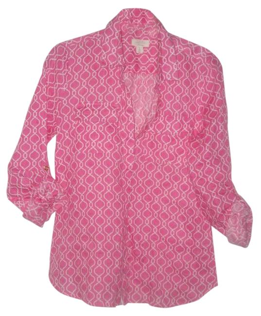 Preload https://img-static.tradesy.com/item/15610681/charter-club-pink-linen-gold-button-gown-rolled-up-sleeve-long-sleeve-linen-blouse-size-6-s-0-1-650-650.jpg