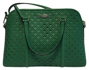 Kate Spade Small Rachelle Wkru3659 Newbury Lane Caining Satchel in Sprout Green