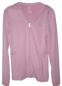 adidas New ATS DRY Pink 100% Polyester Zipper Front Long Sleeve Hoodie Size S