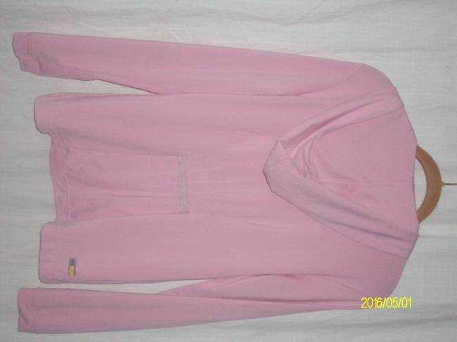 adidas New ATS DRY Pink 100% Polyester Zipper Front Long Sleeve Hoodie Size S Image 1