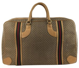 Gucci Luggage Overnight Brown Travel Bag