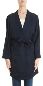 Rag & Bone Trench Silk Spring Navy Jacket