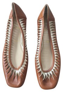 Christian Louboutin brown and gold Flats
