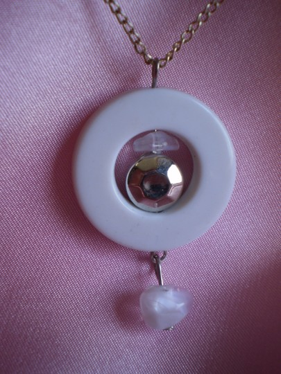 Unknown White circle necklace