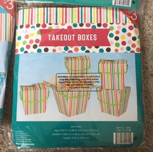 Colorful Takeout Boxes