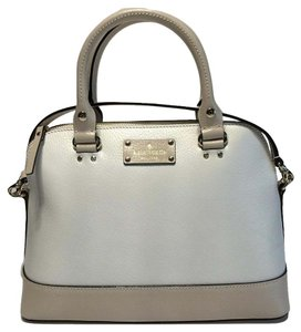 Kate Spade Small Rachelle Satchel in Pebble/Cream