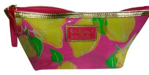 """Lilly Pulitzer Lilly Pulitzer """"Lemonade"""" for Estee Lauder Jelly Make-up Bag."""