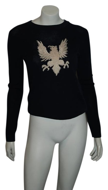 Preload https://img-static.tradesy.com/item/15611740/sea-navy-12-wool-thin-knit-wwhite-threadwork-eagle-sweaterpullover-size-2-xs-0-1-650-650.jpg