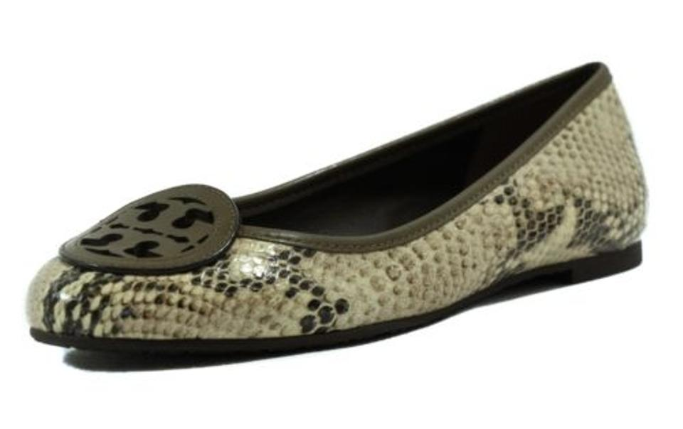 Tory Burch Multi Color Louisa Python Print Ballet Flats