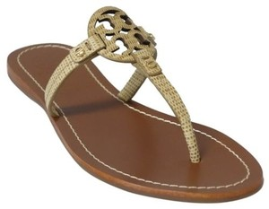Tory Burch Mini Miller Flat Trench Tan Sandals