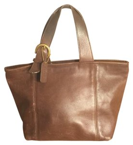 Coach Tote in Brown/Brass