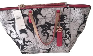 Trina Turk Satchel in Black White Pink