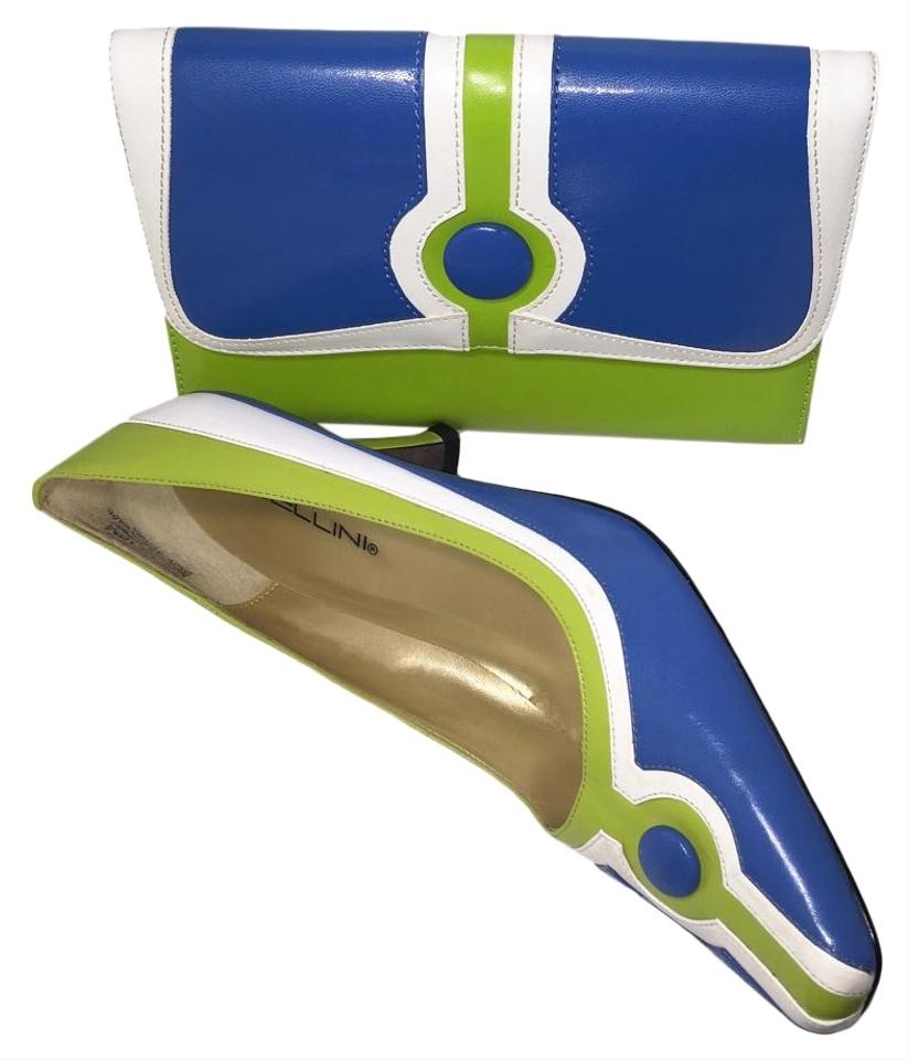Bellini shoes easy slip combo blue white lime green for Lime and blue