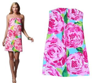 Lilly Pulitzer short dress Roses on Tradesy