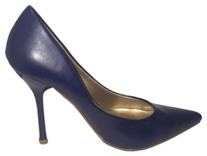 Paprika Heels Easy Slip On 4 Inch Heel Classic Navy Blue Pumps