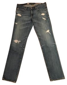 AG Adriano Goldschmied Distressed Straight Leg Jeans