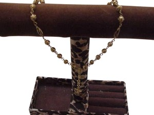 Other Estate Vintage 14k Solid Yellow Gold Rosary Beads & Crucifix/Cross Necklace