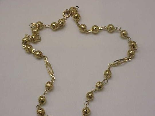 Other Estate Vintage 14k Solid Yellow Gold Rosary Beads & Crucifix/Cross Necklace Image 4