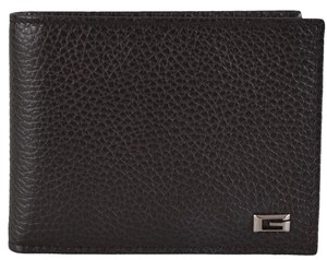 Gucci New Gucci Men's 150403 2038 Brown Leather G Logo Bifold Wallet W/Coin Pocket